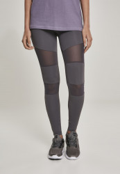 Dámske legíny URBAN CLASSICS Ladies Tech Mesh Leggings raw grey