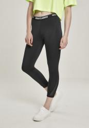 Dámske legíny URBAN CLASSICS Ladies Tech Mesh Pedal Pusher Leggings black