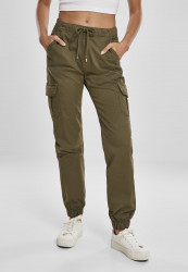 Dámske nohavice Urban Classics Ladies High Waist Cargo Jogging Pants summerolive