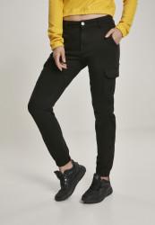 Dámske nohavice URBAN CLASSICS Ladies High Waist Cargo Pants čierne