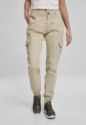 Dámske nohavice URBAN CLASSICS Ladies High Waist Cargo Pants concrete