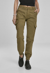 Dámske nohavice URBAN CLASSICS Ladies High Waist Cargo Pants summerolive