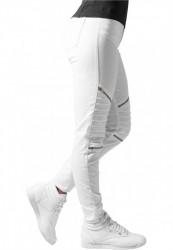 Dámske nohavice URBAN CLASSICS LADIES STRETCH BIKER PANTS WHITE #1