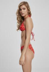 Dámske plavky MERCHCODE Ladies Coca Cola Logo AOP Bikini Farba: red,