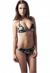 Dámske plavky Urban Classics Ladies Triangle Bikini flower black