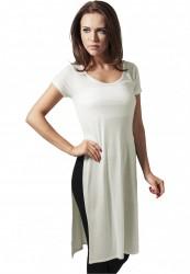 Dámske predĺžené tričko Urban Classics Ladies Side Slit Viscose Long Tee