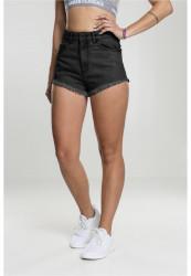 Dámske riflové kraťasy Urban Classics Ladies Sleeveless Jersey Hoody black