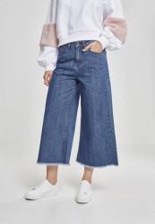 Dámske riflové nohavice URBAN CLASSICS Ladies Denim Culotte ocean blue