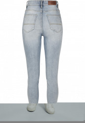 Dámske riflové nohavice URBAN CLASSICS Ladies High Waist Slim Jeans mid stone wash Farba: mid stone wash,