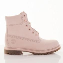 Dámske ružové vodeodolné kožené zimné topánky Timberland 6-INCH