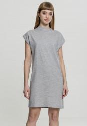 Dámske šaty URBAN CLASSICS Dámske šaty URBAN CLASSICS Ladies Turtle Extended Shoulder Dress grey