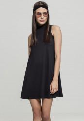 Dámske šaty URBAN CLASSICS Ladies A-Line Turtleneck Dress black