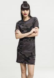 Dámske šaty URBAN CLASSICS Ladies Camo Tee Dress dark camo