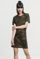 Dámske šaty URBAN CLASSICS Ladies Camo Tee Dress olive camo