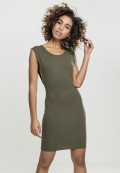 Dámske šaty URBAN CLASSICS Ladies Deep Armhole Dress olive