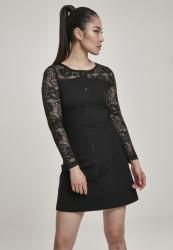 Dámske šaty URBAN CLASSICS Ladies Lace Block Dress black