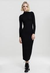 Dámske šaty URBAN CLASSICS Ladies Long Turtleneck Dress black
