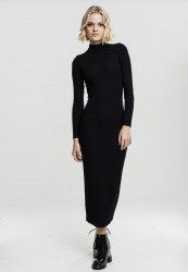 Dámske šaty URBAN CLASSICS Ladies Long Turtleneck Dress black