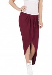Dámske šaty URBAN CLASSICS Ladies Long Viscon Skirt bordová