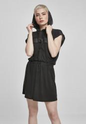 Dámske šaty URBAN CLASSICS Ladies Modal Hoody Dress black/black