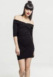 Dámske šaty URBAN CLASSICS Ladies Off Shoulder Cross Rib Dress