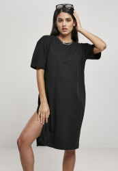 Dámske šaty Urban Classics Ladies Organic Oversized Slit black