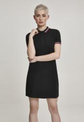Dámske šaty URBAN CLASSICS Ladies Polo Dress black