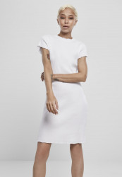 Dámske šaty URBAN CLASSICS Ladies Rib Tee Dress white