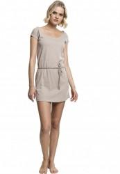 5520ec2db274 Dámske šaty URBAN CLASSICS Ladies Slub Jersey Dress béžová