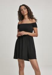 Dámske šaty URBAN CLASSICS Ladies Smoked Off Shoulder Dress black