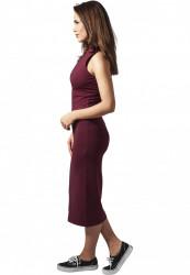 Dámske šaty URBAN CLASSICS Ladies Stretch Jersey Turtleneck Dress bordová #1
