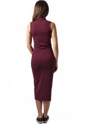 Dámske šaty URBAN CLASSICS Ladies Stretch Jersey Turtleneck Dress bordová #2