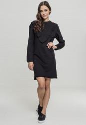 Dámske šaty URBAN CLASSICS Ladies Terry Volant Dress black