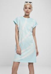 Dámske šaty URBAN CLASSICS Ladies Tie Dye Dress aquablue