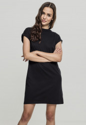 Dámske šaty URBAN CLASSICS Ladies Turtle Extended Shoulder Dress black
