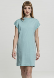 Dámske šaty URBAN CLASSICS Ladies Turtle Extended Shoulder Dress bluemint