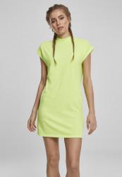 Dámske šaty URBAN CLASSICS Ladies Turtle Extended Shoulder Dress electriclime
