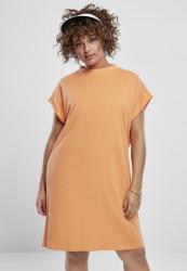 Dámske šaty URBAN CLASSICS Ladies Turtle Extended Shoulder Dress papaya