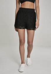 Dámske šortky Urban Classics Ladies Laces Shorts čierne