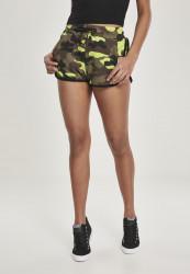 Dámske šortky Urban Classics Ladies Printed Camo Hot Pants