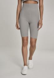 Dámske športové kraťasy Urban Classics Ladies High Waist Cycle Shorts green/grey