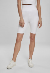 Dámske športové kraťasy Urban Classics Ladies High Waist Cycle Shorts white