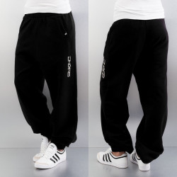 Dámske tepláky Dangerous DNGRS Soft Dream Leila Ladys Logo Sweat Pants Black/White Size: L