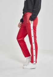 Dámske tepláky URBAN CLASSICS Ladies Button Up Track Pants fire red/white/navy