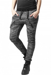 Dámske tepláky URBAN CLASSICS Ladies Fitted Melange Zip Sweatpants