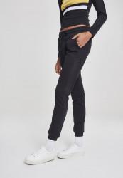 Dámske tepláky URBAN CLASSICS Ladies Tech Mesh Side Stripe Sweatpants čierne