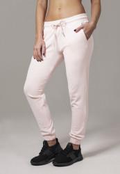 Dámske tepláky URBAN CLASSICS Ladies Velvet Pants pink