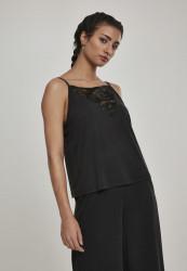 Dámske tielko URBAN CLASSICS Ladies Laces Triangle Top black