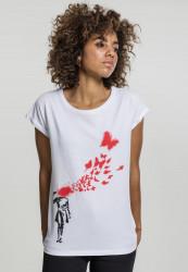 Dámske tričko Merchcode Ladies Banksy Butterfly Tee