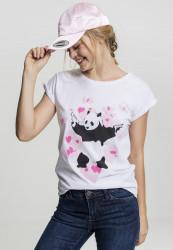 Dámske tričko Merchcode Ladies Banksy Panda Heart Tee